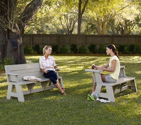 Convert A Bench Ultra II Outdoor 2 In 1 Bench To Table W/5 Year LMW   Page  1 U2014 QVC.com