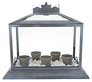 Martha Stewart Terrarium with 5 Flower Pots & Decorative Rock - M57475