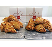 Davids Cookies 16-piece Butterscotch Pecan Scones - M116982