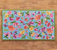 Plow & Hearth Floral Indoor/Outdoor Area Rug - M64882