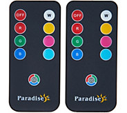 Paradise Set of 2 Color Select Solar Remote Controls - M53783