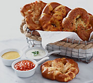 Kim & Scotts (12) 6 oz. Gourmet Savory Stuffed Pretzels - M55483