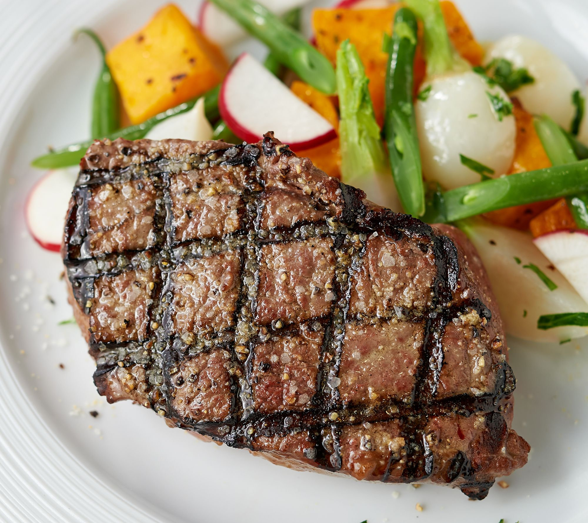 Kansas City Steak (8) 6-oz Top Sirloin Steaks with Seasoning - QVC.com