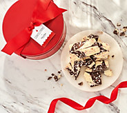 SH 11/5 Martha Stewart 2-lbs Holiday Peppermint Bark in Red Gift Tin - M60085