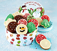 SH 12/3 Cheryls Snowman Frosted Cookie Tin Assortment - M59686