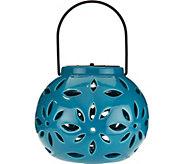 Solar Ceramic Flower Petal Lantern - M51787