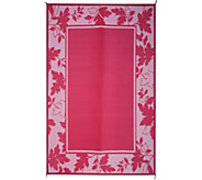 Barbara King 6x9 Reversible Outdoor Mat with Stakes and Carrying Bag - M52687