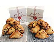 Davids Cookies 16-piece Cranberry Orange Scones - M116988