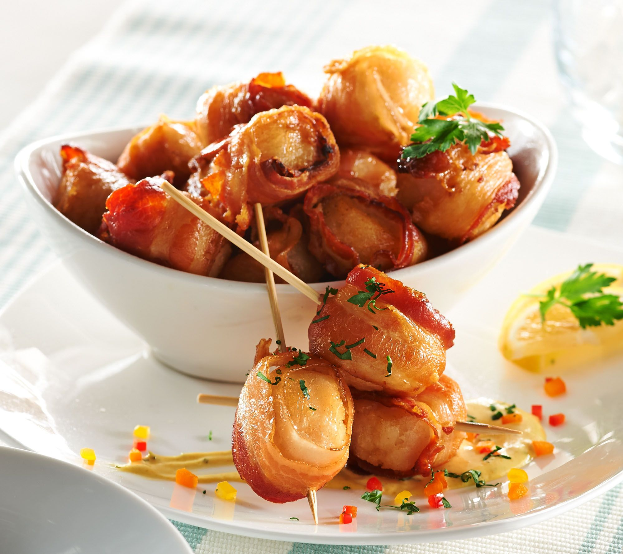 e24918783f Graham   Rollins 3 lbs. of Bacon Wrapped Sea Scallops - Page 1 — QVC.com