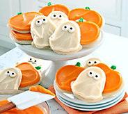 Cheryls 24-pc Ghost and Pumpkins Buttercream F rosted Cookies - M112690