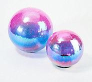 Plow & Hearth Set of 2 Iridescent Solar Glass Globes - M60491