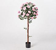 Indoor/Outdoor 47 Artificial Rose Tree in Pot - M61092