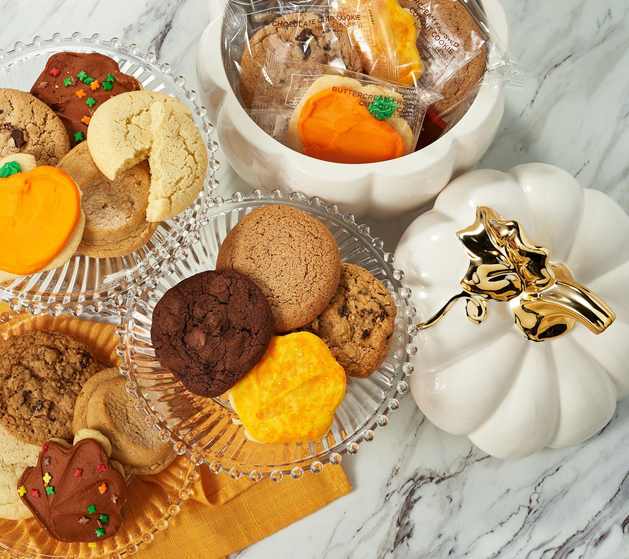 Cheryl's Pumpkin Cookie Jar with (18) Cookies — QVC com