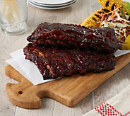 Corkys BBQ (4) 1-lb Competition Style Baby Back Ribs w/ Sauce - M58194