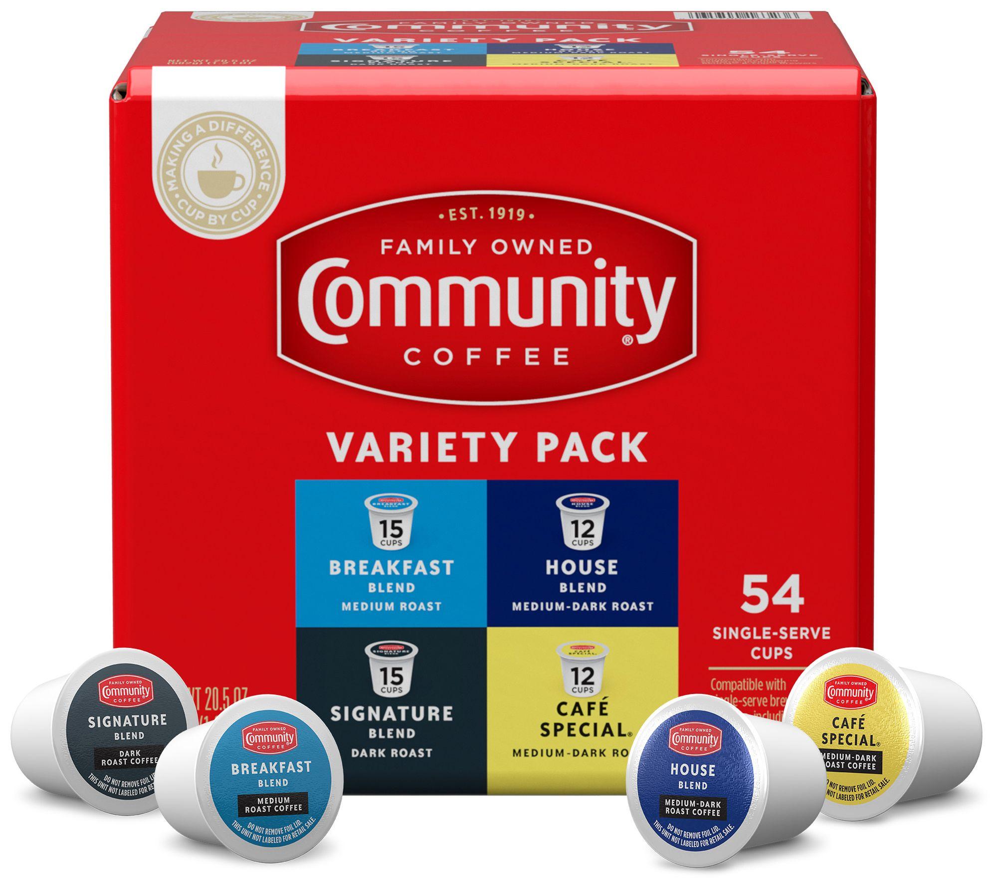Community Coffee 54-Ct Variety Pack Single Serve Cups — QVC com