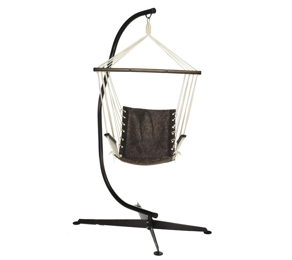 As Is Bliss Hammocks Swinging Hammock Chair With Stand Qvc