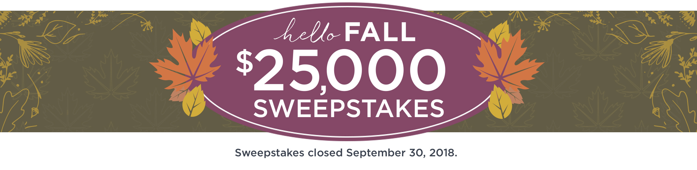 QVC Hello Fall Sweepstakes Winners. Sweepstakes closed September 30, 2018.