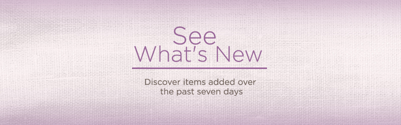 See What's New.  Discover items added over the past seven days.