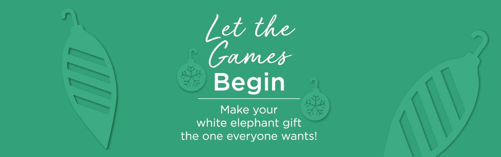 Let the Games Begin.  Make your white elephant gift the one everyone wants!