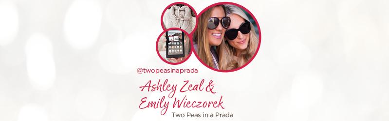 Ashley Zeal & Emily Wieczorek from Two Peas in a Prada. @twopeasinaprada