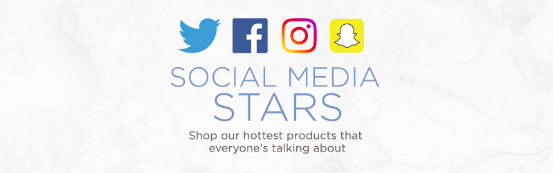 Social Media Stars. Shop our hottest products that everyone's talking about