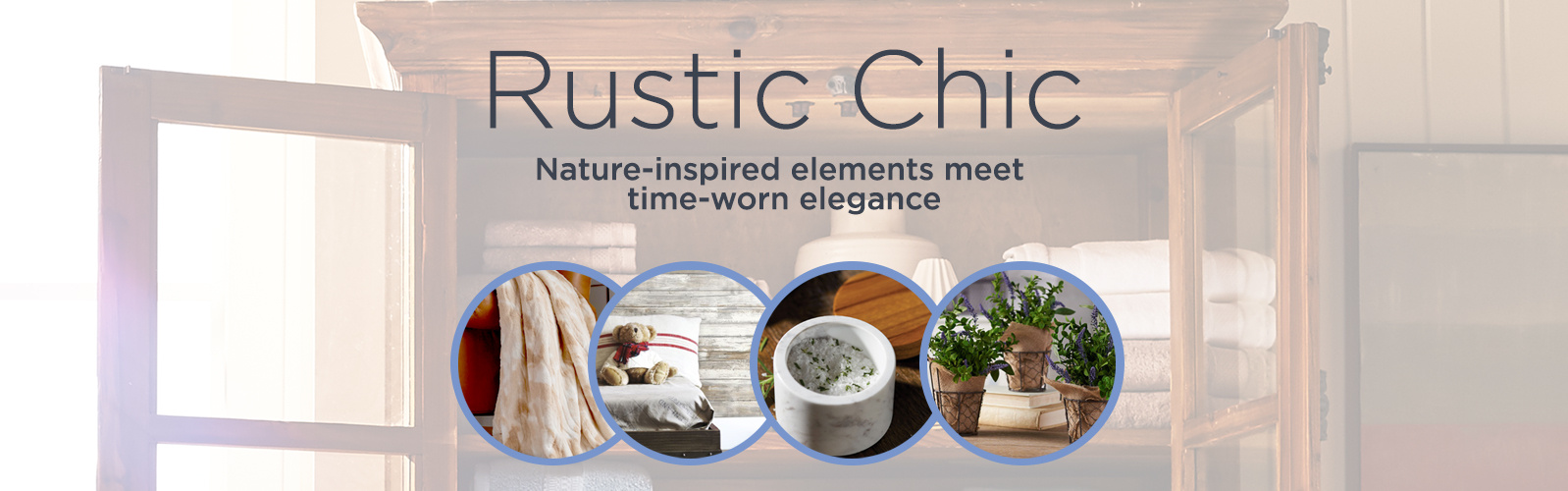 Rustic Chic  Nature-inspired elements meet time-worn elegance