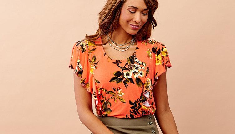 Apparel. Find sweet styles in full bloom