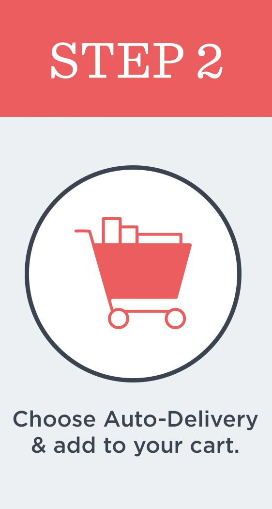 Step 2  Choose Auto-Delivery & add to your cart.