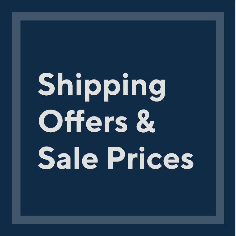 Shipping Offers & Sale Prices