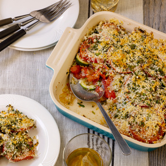 Baked Tomato and Cucuzza Squash