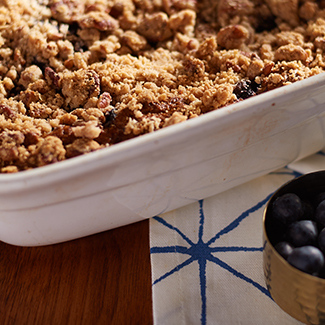 92a6c22f7f Blueberry Muffin Buckle — QVC.com