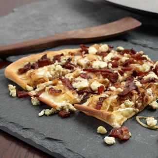 Cheesy Tarte Flambé