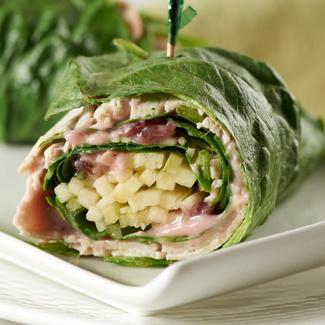 Lettuce Wraps with Turkey & Cranberry-Walnut Mayonnaise