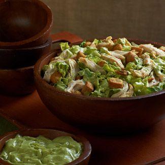 Chicken Caesar Salad with Avocado Dressing