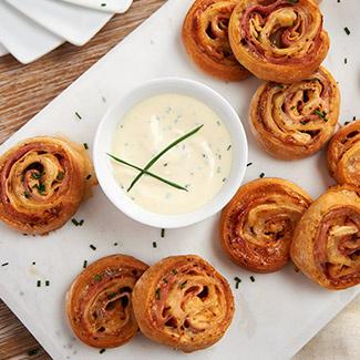 Chicken Cordon Bleu Pinwheels with Dijonnaise
