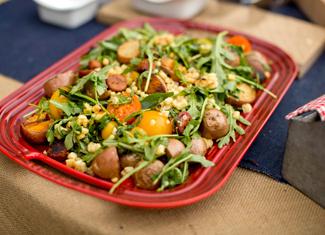 Chorizo, Shrimp & Corn Salad