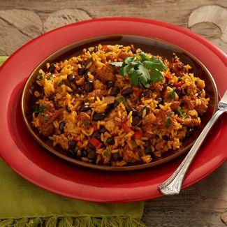 Chorizo and Black Bean Rice