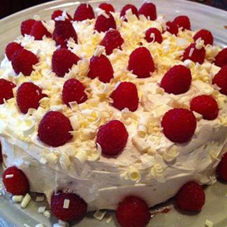 White-Chocolate Raspberry Cake