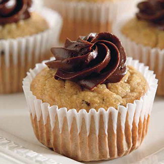 Banana Chocolate-Chunk Cupcakes