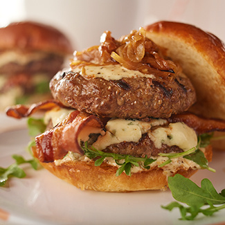 Double-Stack Black & Blue Burger