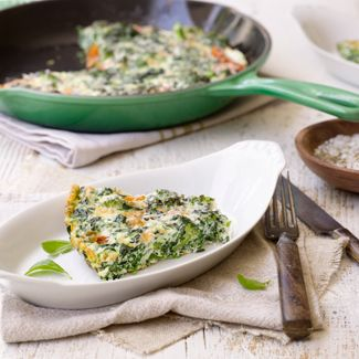 Egg-White Frittata with Spinach, Cherry Tomatoes & Parmesan