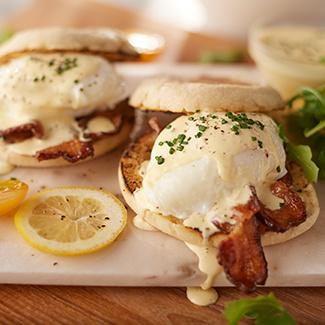 Eggs Benedict with Bacon Hollandaise