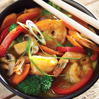 Coconut Curry Shrimp & Vegetables