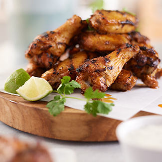 Garlic-Lime Grilled Wings