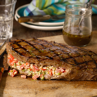 Stuffed and Grilled Flank Steak
