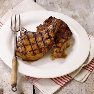 Grilled Teriyaki Glazed Pork Chops