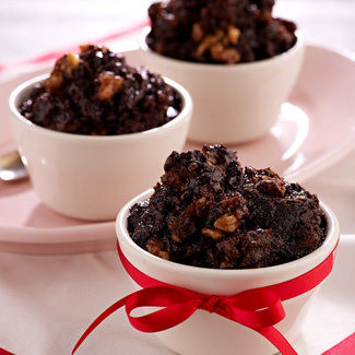 Slow Cooker Brownie Bread Pudding