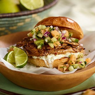Jamaican Jerk Pork Sandwich