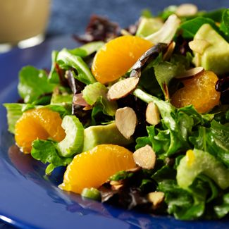 Mandarin Spring Salad with Grapefruit Dressing
