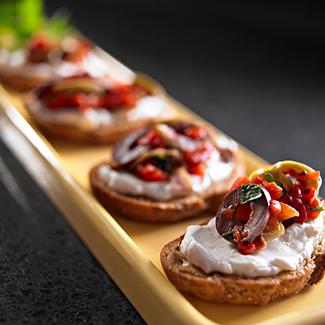 Olive & Roasted Red Pepper Bruschetta